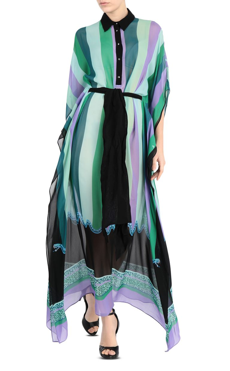 JUST CAVALLI Scarf-print gown Dress Woman f