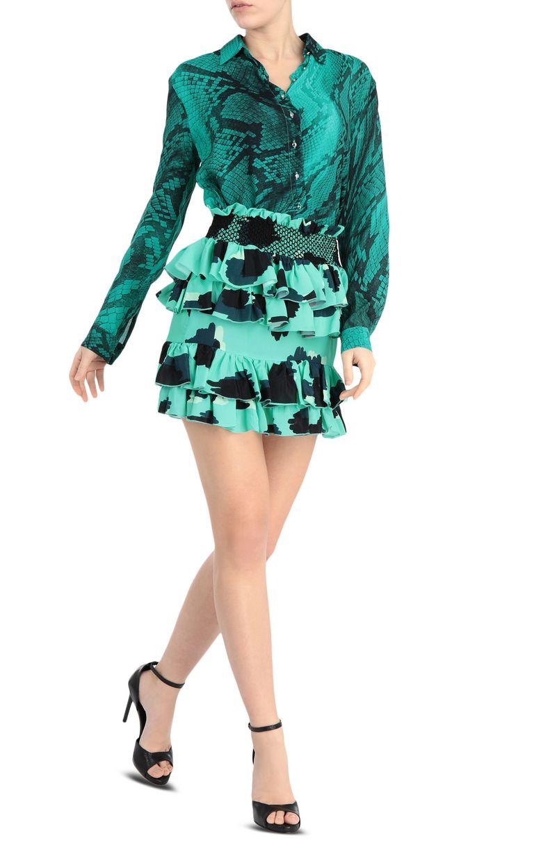 JUST CAVALLI Short leopard-python-print dress Short dress Woman d