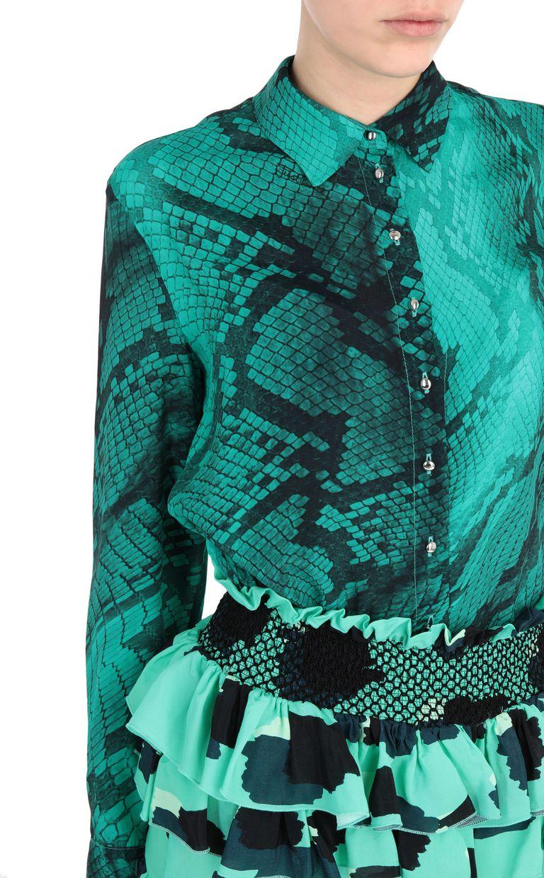 JUST CAVALLI Short leopard-python-print dress Short dress Woman e