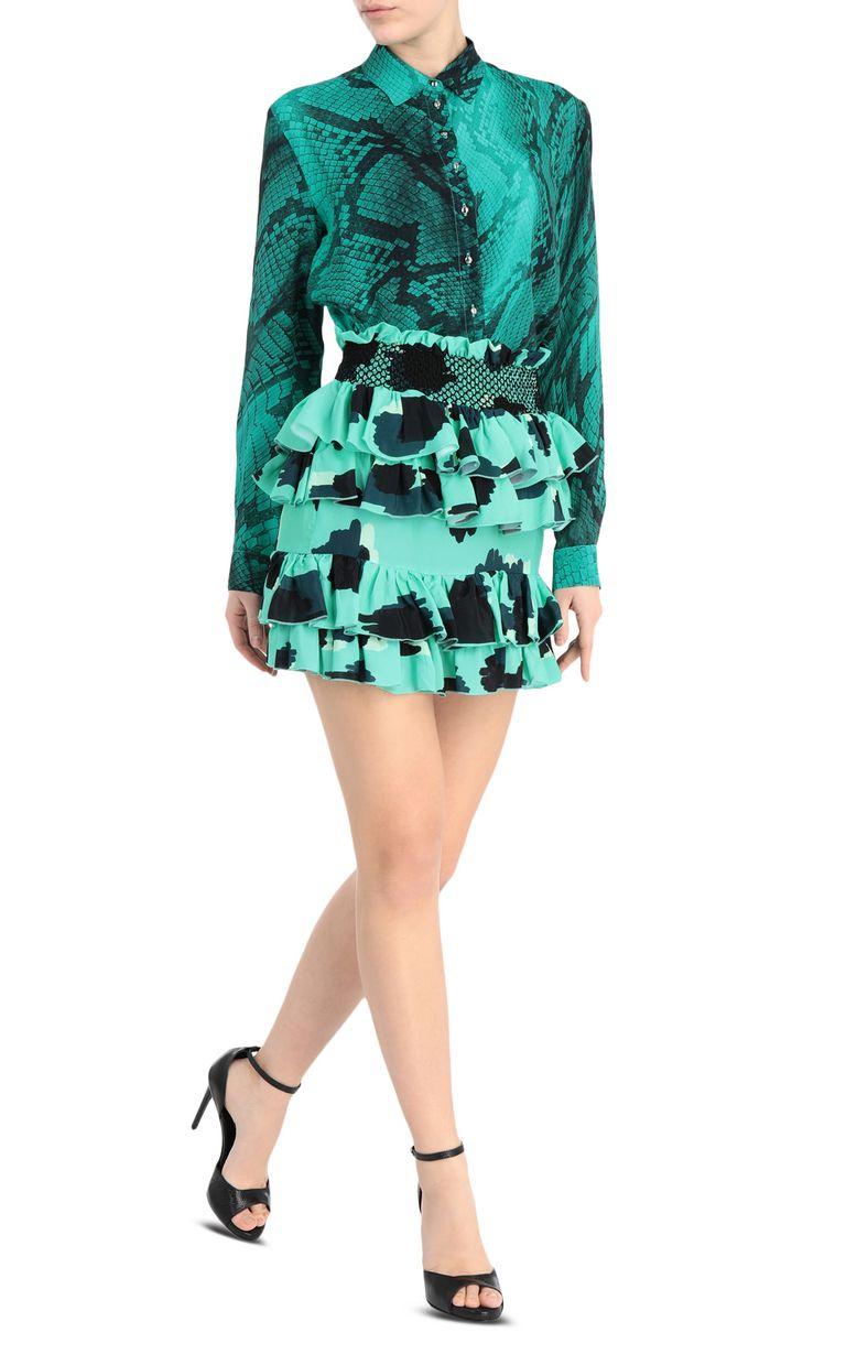 JUST CAVALLI Short leopard-python-print dress Short dress Woman f