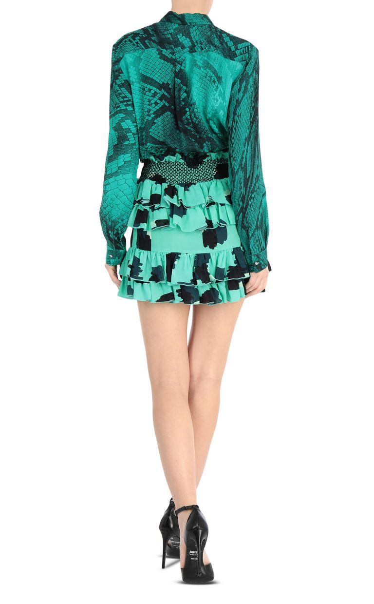 JUST CAVALLI Short leopard-python-print dress Short dress Woman r