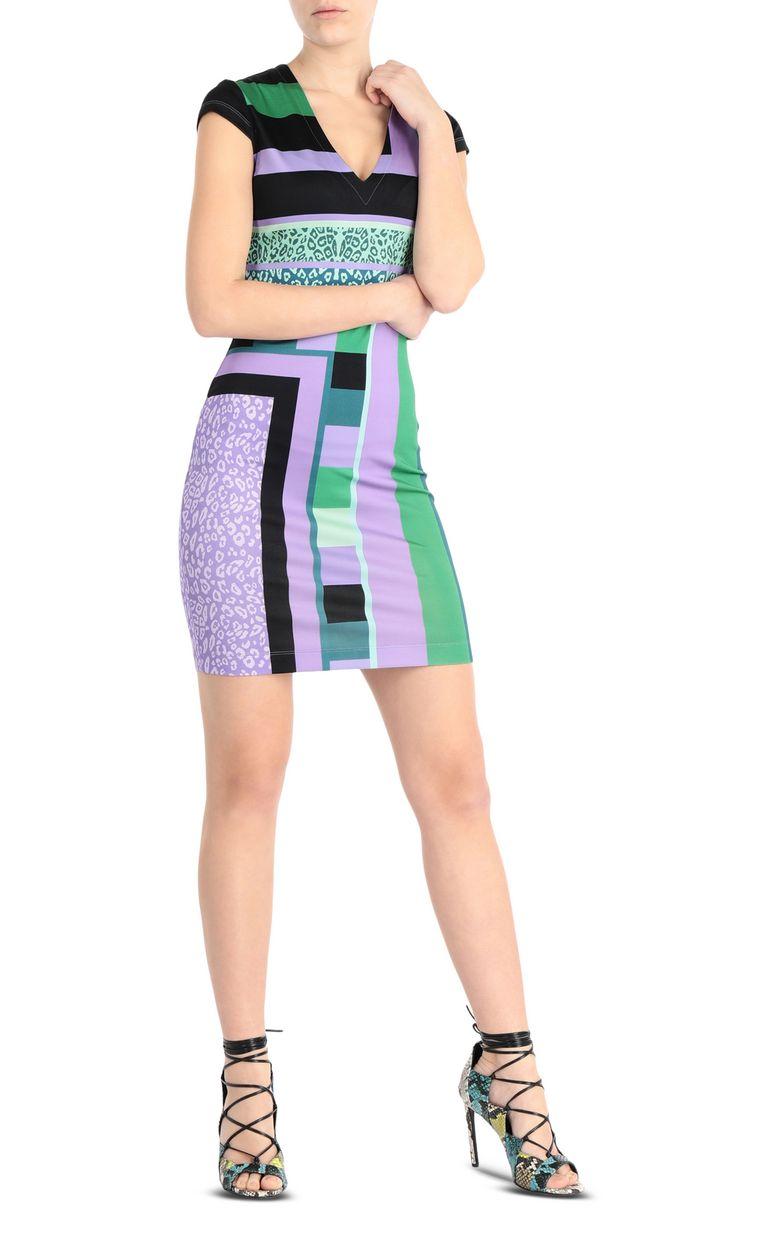 JUST CAVALLI Short scarf-print dress Short dress Woman d