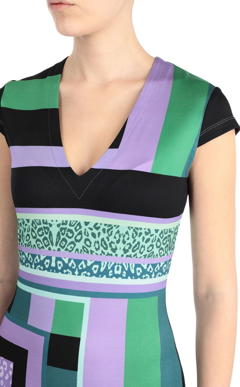 JUST CAVALLI Short scarf-print dress Short dress Woman e