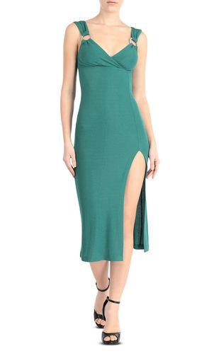 Form-fitting lurex dress