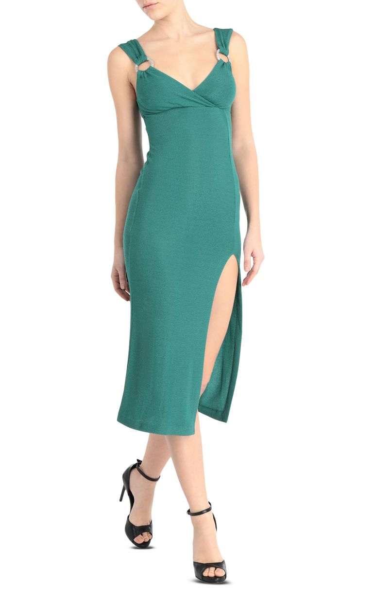 JUST CAVALLI Form-fitting lurex dress 3/4 length dress Woman d