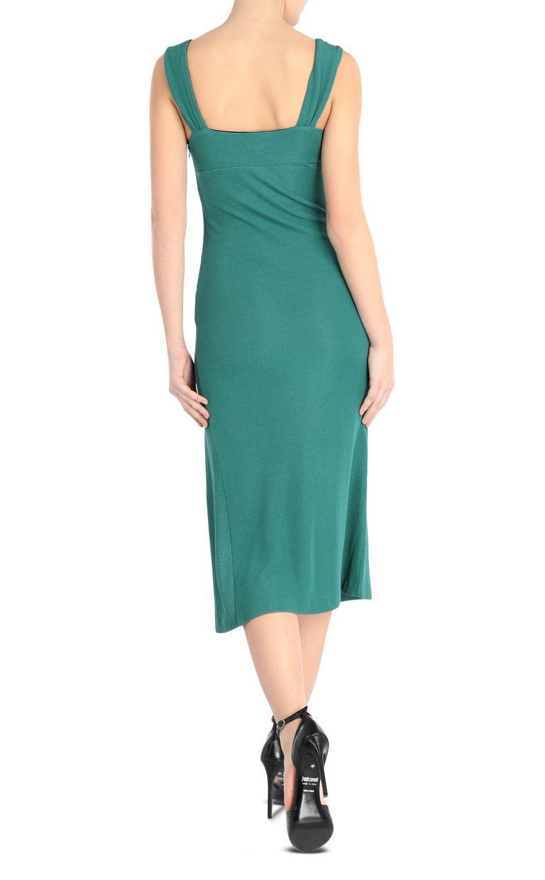 JUST CAVALLI Form-fitting lurex dress 3/4 length dress Woman r