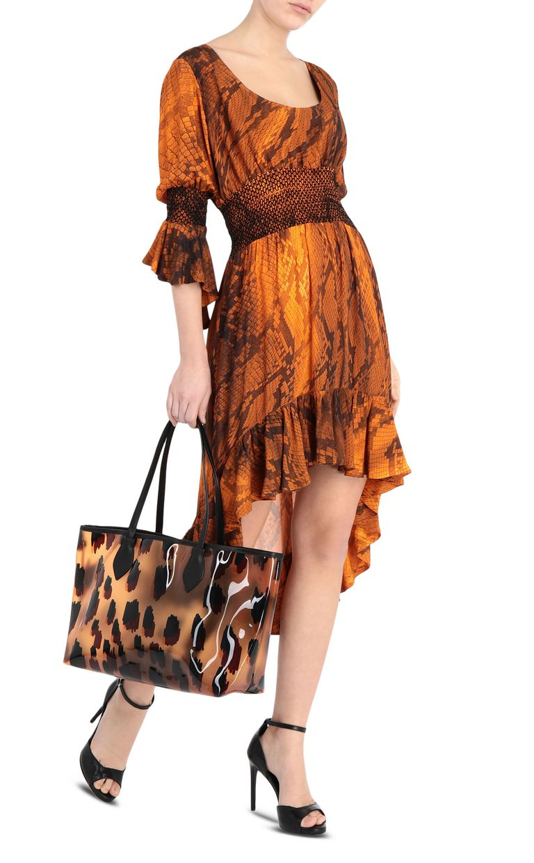 JUST CAVALLI Python-print dress 3/4 length dress Woman d