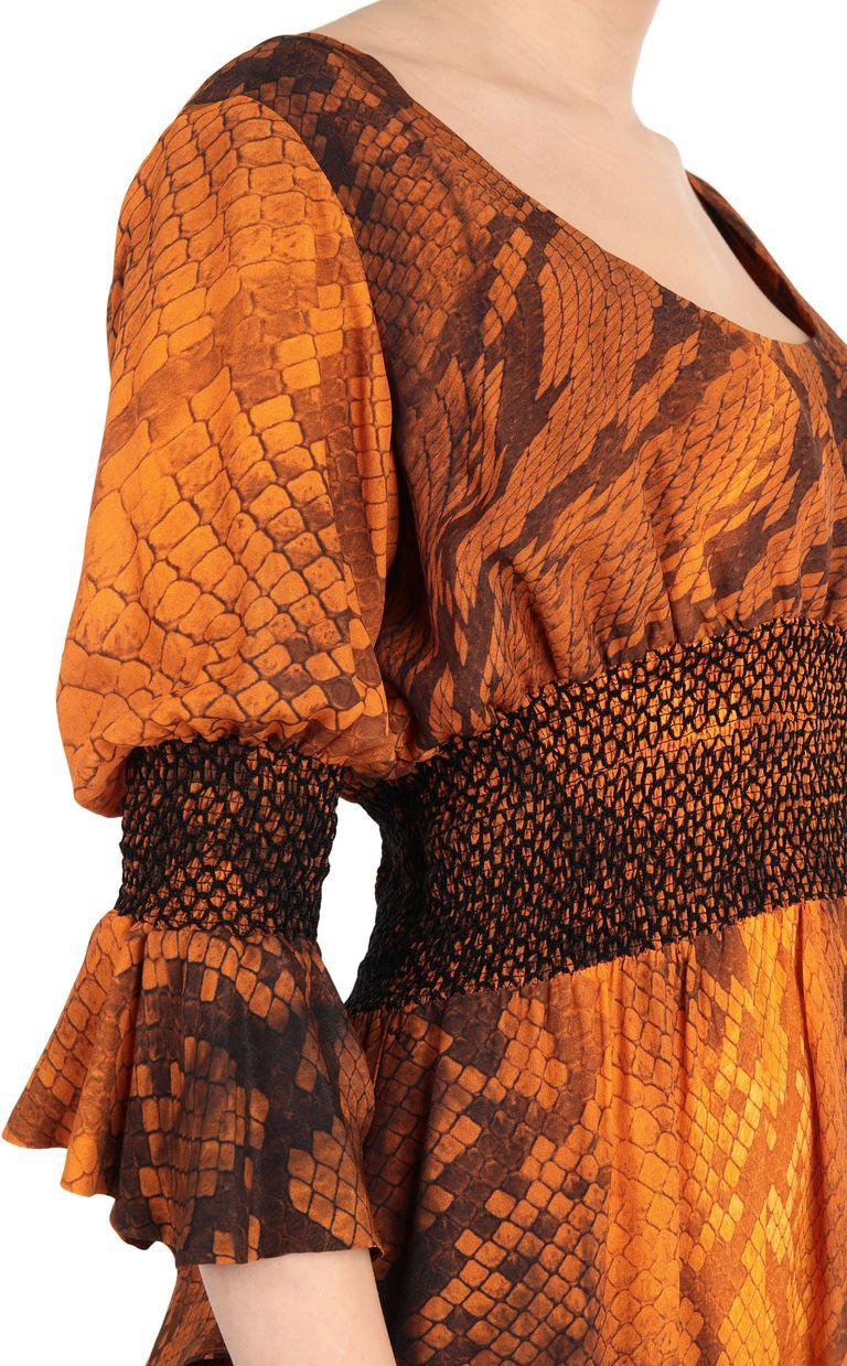 JUST CAVALLI Python-print dress 3/4 length dress Woman e