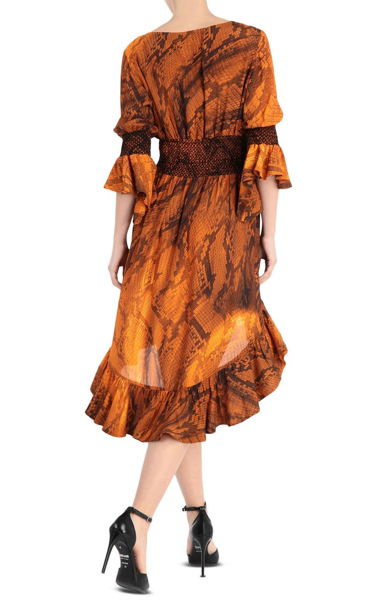 JUST CAVALLI Python-print dress 3/4 length dress Woman r