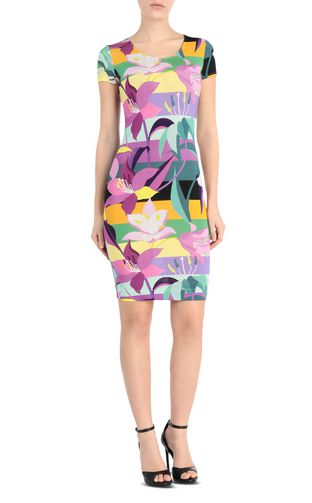 JUST CAVALLI Short dress Woman Floral-print dress f
