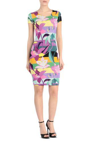 JUST CAVALLI Dress Woman Scarf-print gown f