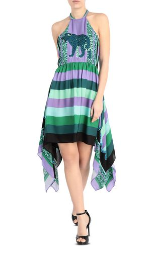 JUST CAVALLI Dress Woman Scarf-print gown f