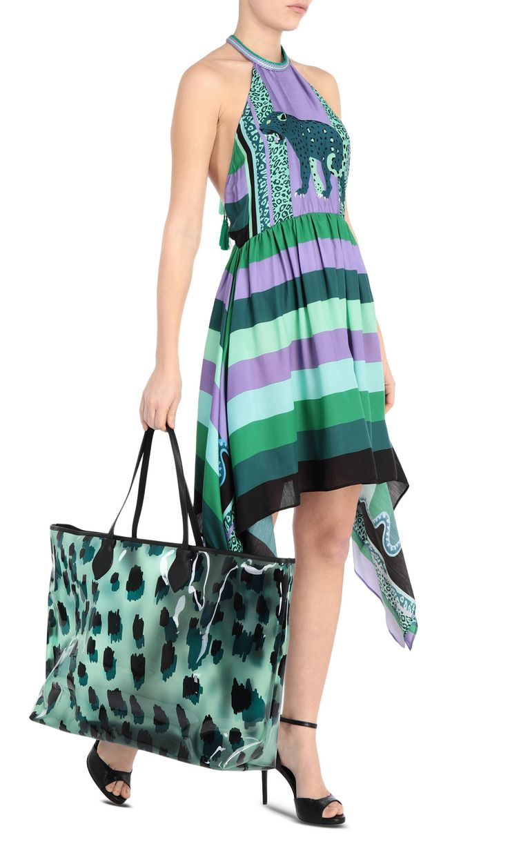 JUST CAVALLI Short scarf-print dress Dress Woman d