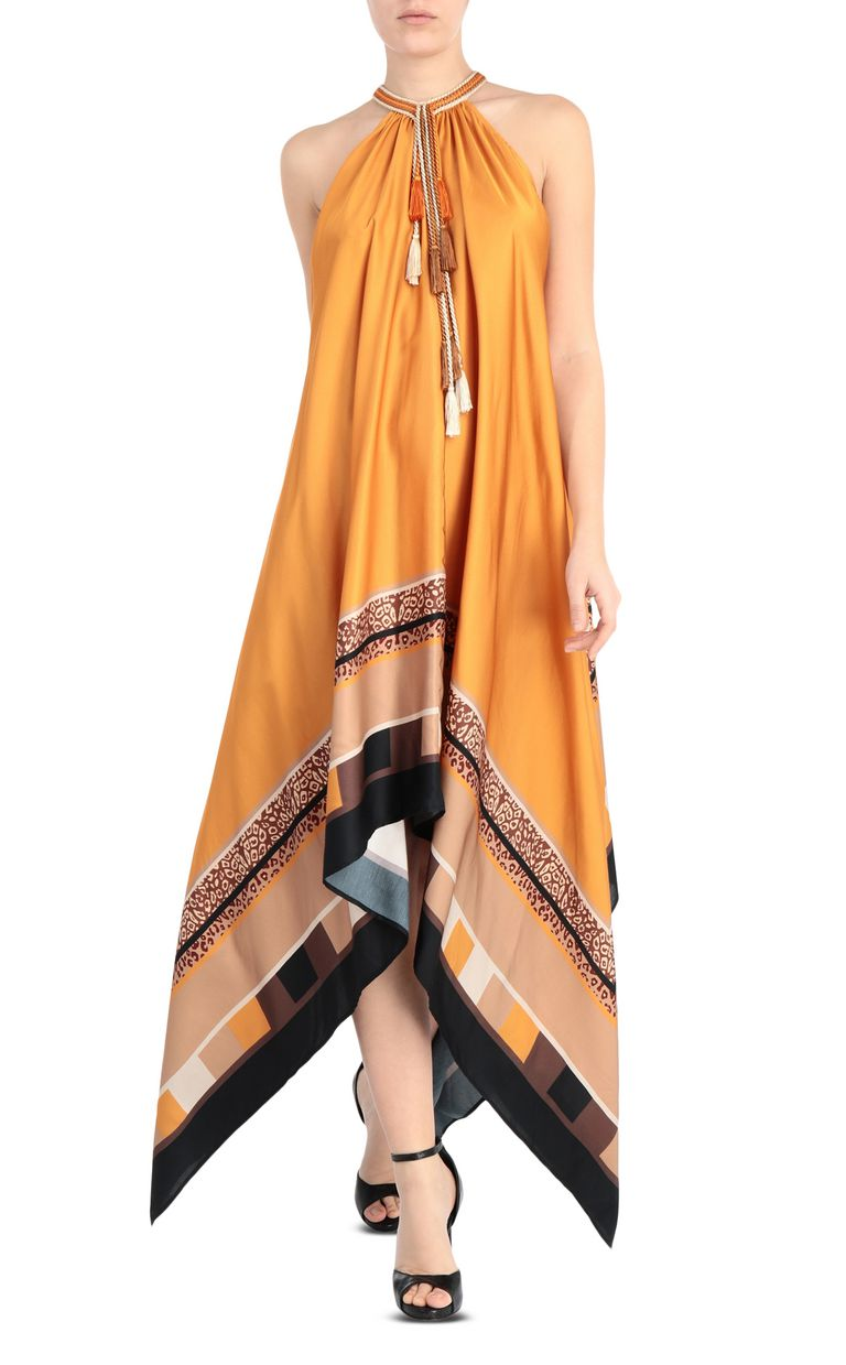 JUST CAVALLI Scarf-print dress Long dress Woman f