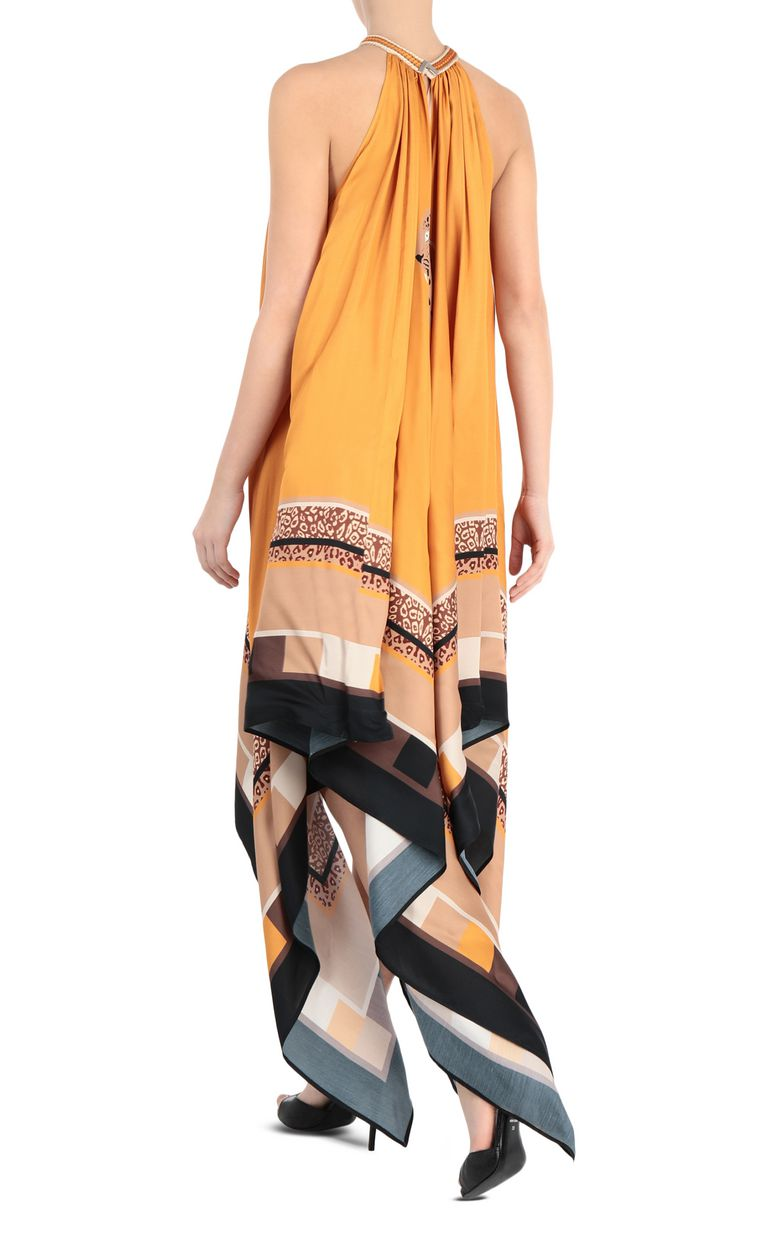 JUST CAVALLI Scarf-print dress Long dress Woman r