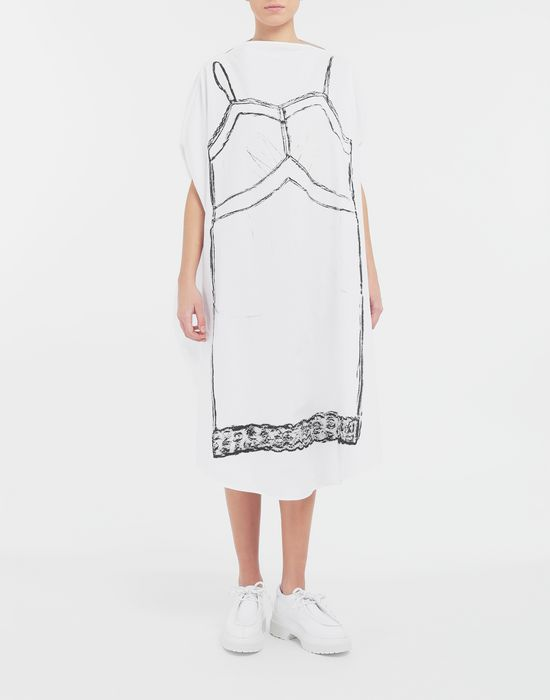 MM6 MAISON MARGIELA Trace Marked printed circle dress 3/4 length dress [*** pickupInStoreShipping_info ***] r