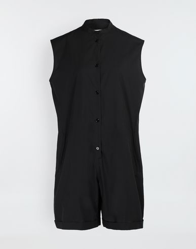 MM6 MAISON MARGIELA Casual cotton-blend playsuit Short pant overall [*** pickupInStoreShipping_info ***] f