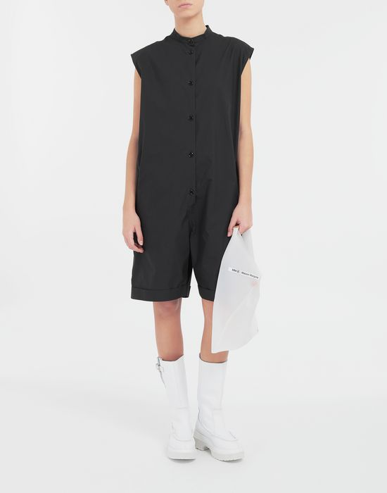 MM6 MAISON MARGIELA Casual cotton-blend playsuit Short dungaree [*** pickupInStoreShipping_info ***] d