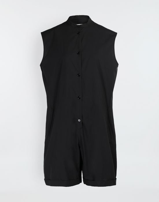 MM6 MAISON MARGIELA Casual cotton-blend playsuit Short dungaree [*** pickupInStoreShipping_info ***] f