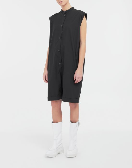 MM6 MAISON MARGIELA Casual cotton-blend playsuit Short dungaree [*** pickupInStoreShipping_info ***] r