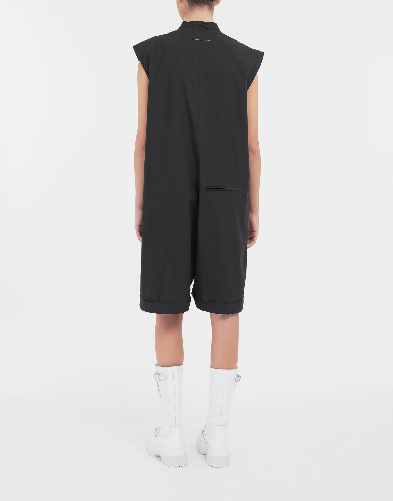 MM6 MAISON MARGIELA Casual cotton-blend playsuit Short dungaree Woman e