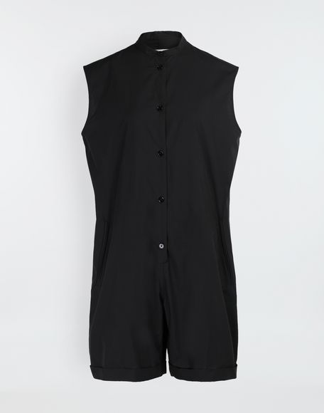 MM6 MAISON MARGIELA Casual cotton-blend playsuit Short dungaree Woman f