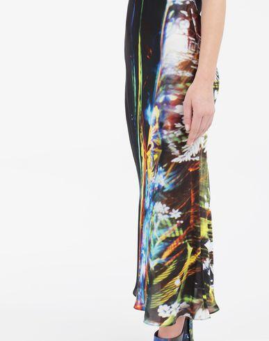 DRESSES Moving Metallics-print silk-blend maxi dress