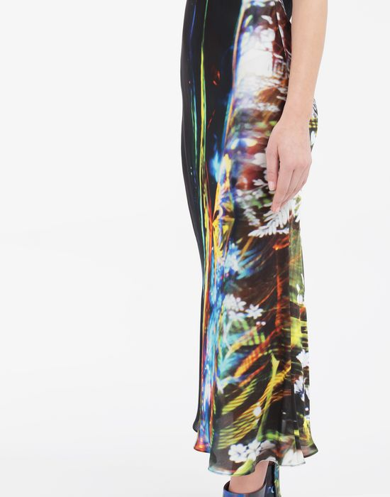 MAISON MARGIELA Moving Metallics-print silk-blend maxi dress Long dress [*** pickupInStoreShipping_info ***] a