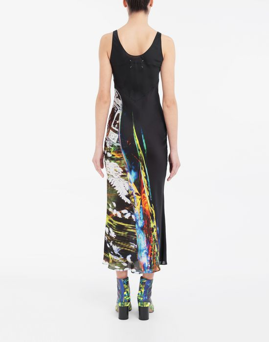 MAISON MARGIELA Moving Metallics-print silk-blend maxi dress Long dress [*** pickupInStoreShipping_info ***] e