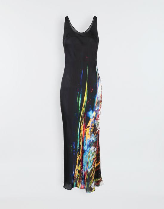 MAISON MARGIELA Moving Metallics-print silk-blend maxi dress Long dress [*** pickupInStoreShipping_info ***] f