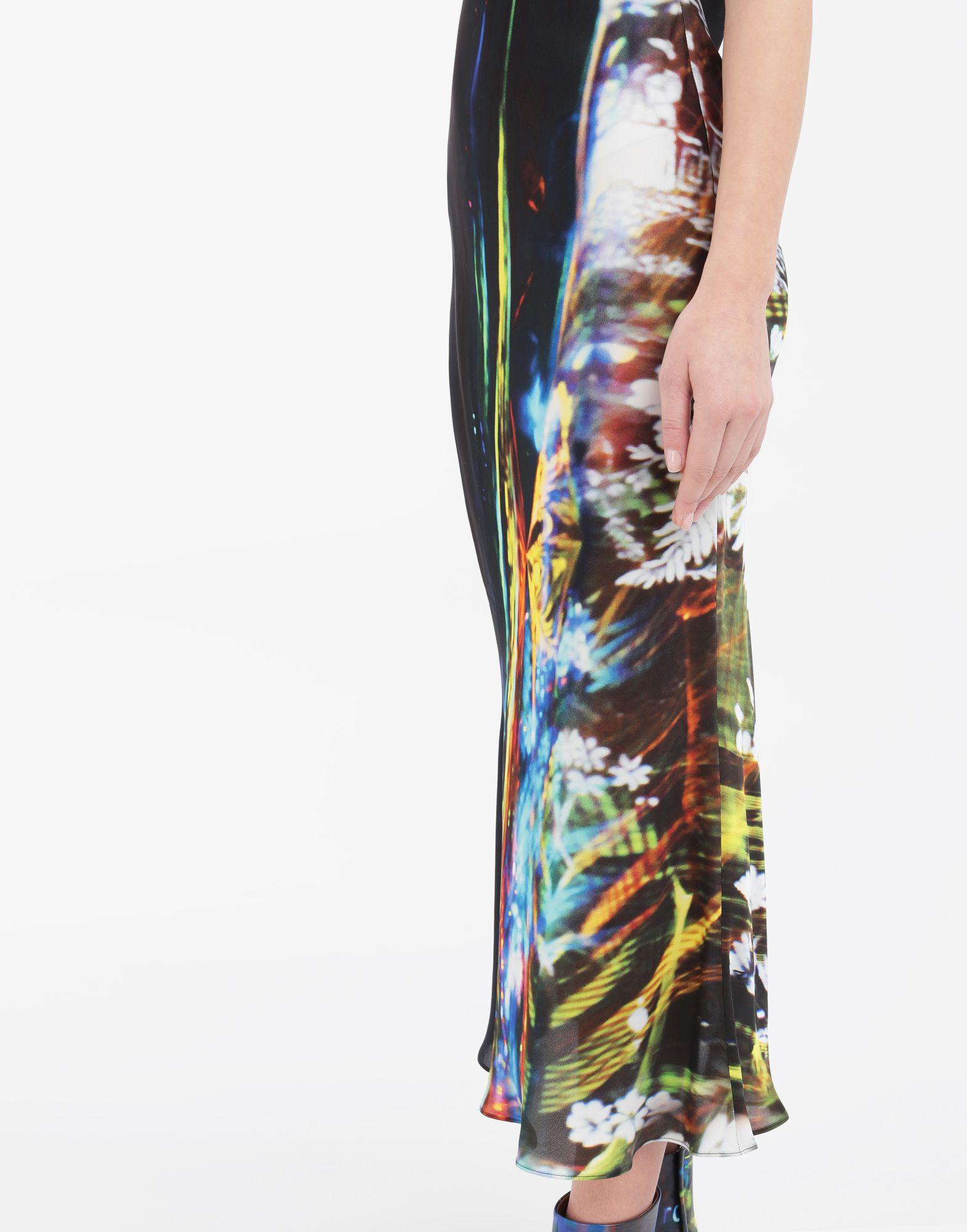 MAISON MARGIELA Moving Metallics-print silk-blend maxi dress Long dress Woman a