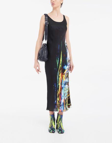 MAISON MARGIELA Moving Metallics-print silk-blend maxi dress Long dress Woman d