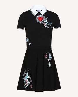 REDValentino Tattoo jacquard stretch viscose knit dress
