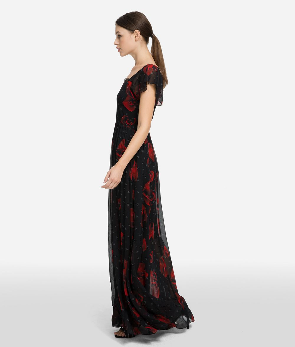 KARL LAGERFELD Платье макси с цветочным мотивом Платье Для Женщин d
