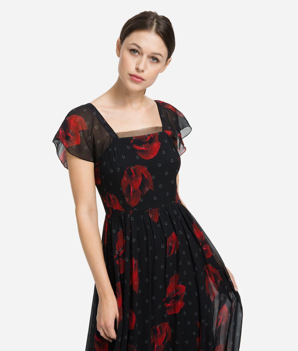 KARL LAGERFELD Платье макси с цветочным мотивом Платье Для Женщин f