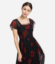 KARL LAGERFELD Flower Maxi Dress 9_f