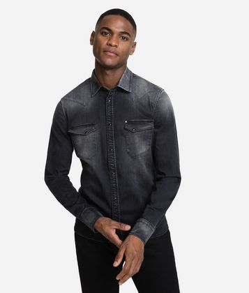 KARL LAGERFELD WESTERN DENIM SHIRT