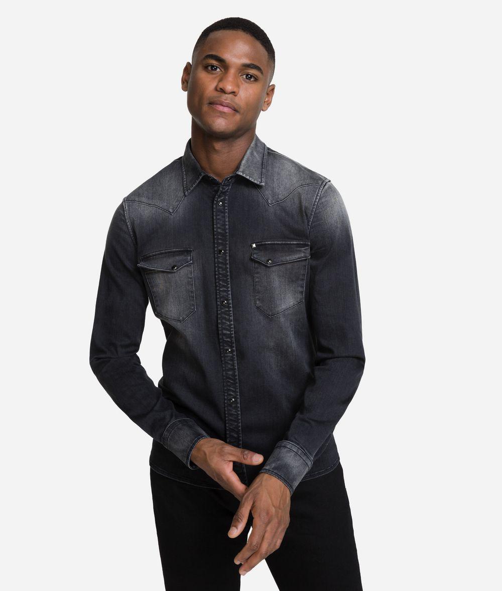 KARL LAGERFELD Western Denim Shirt Shirt Man f