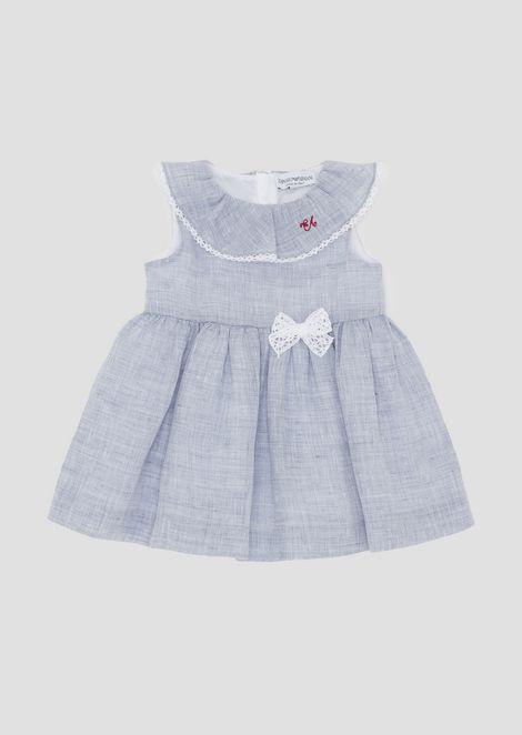 Платье изо льна сюбкой-солнце иотделкой из кружева