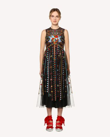 REDValentino RR0VA02CXEF 0NO Long and midi dresses Woman f