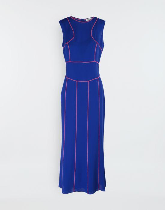 MAISON MARGIELA Stitch-jacquard silk georgette maxi dress Long dress [*** pickupInStoreShipping_info ***] f