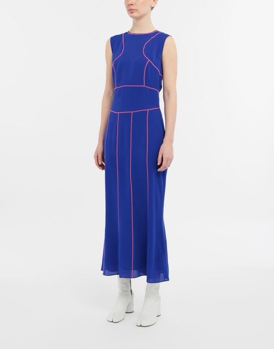 MAISON MARGIELA Stitch-jacquard silk georgette maxi dress Long dress [*** pickupInStoreShipping_info ***] r