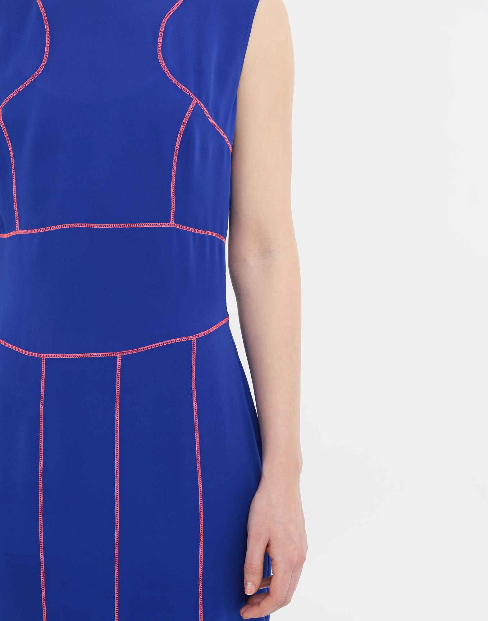 MAISON MARGIELA Stitch-jacquard silk georgette maxi dress Long dress Woman a