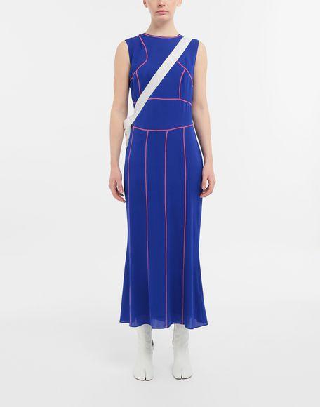 MAISON MARGIELA Stitch-jacquard silk georgette maxi dress Long dress Woman d