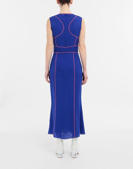 MAISON MARGIELA Stitch-jacquard silk georgette maxi dress Long dress Woman e