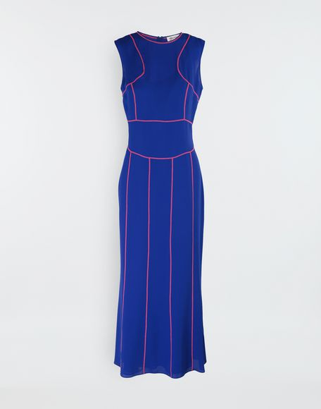 MAISON MARGIELA Stitch-jacquard silk georgette maxi dress Long dress Woman f