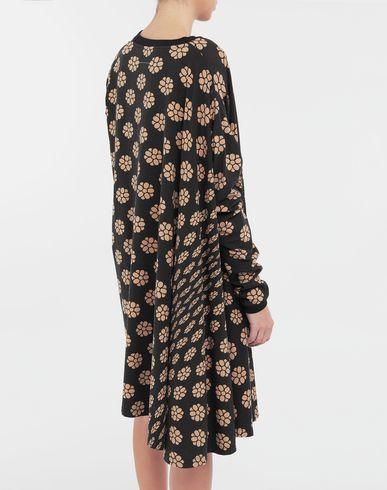 DRESSES Polka dot flower-print shirt dress