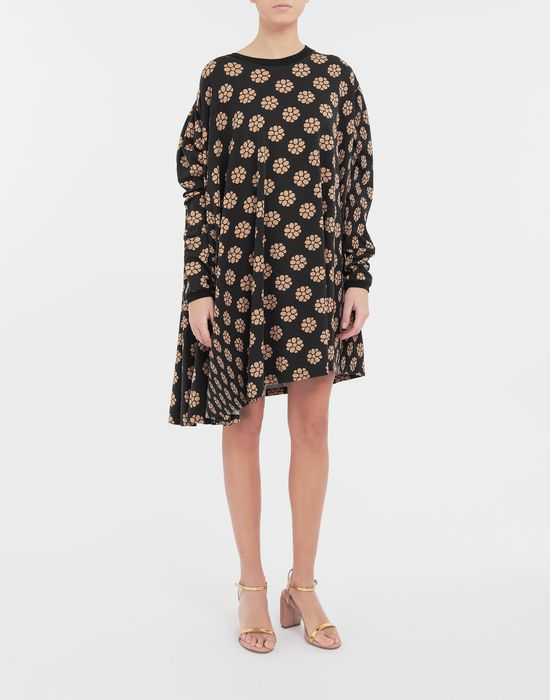 MM6 MAISON MARGIELA Polka dot flower-print shirt dress Short dress [*** pickupInStoreShipping_info ***] r