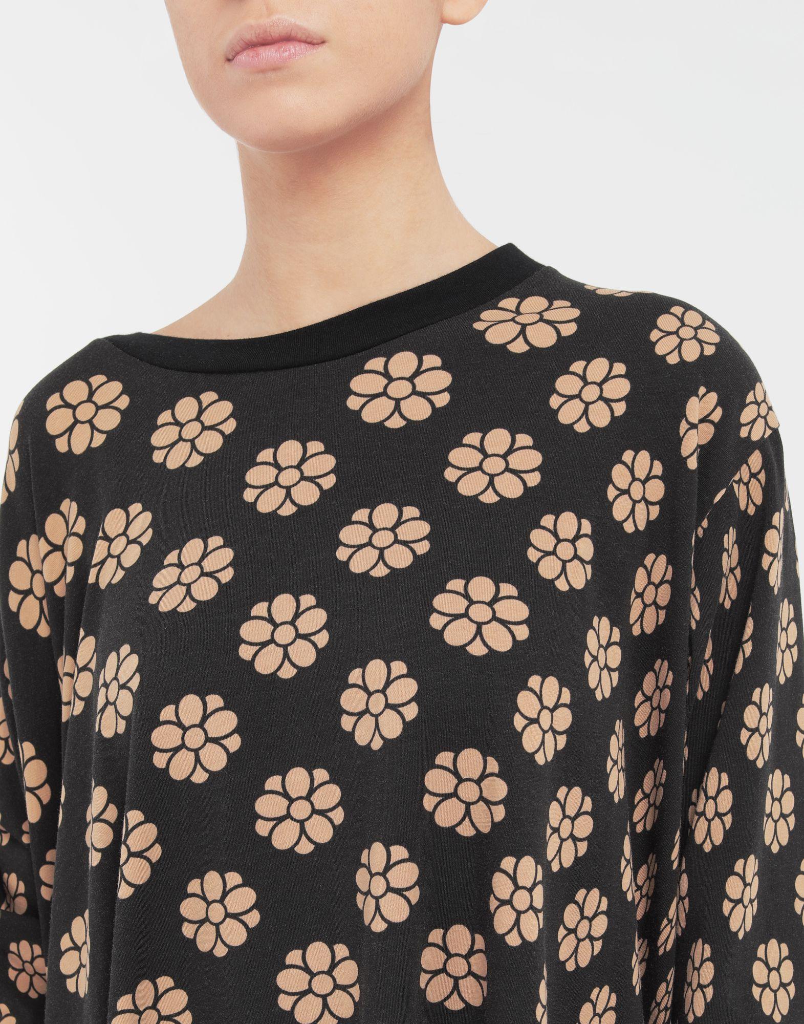 MM6 MAISON MARGIELA Polka dot flower-print shirt dress Short dress Woman a