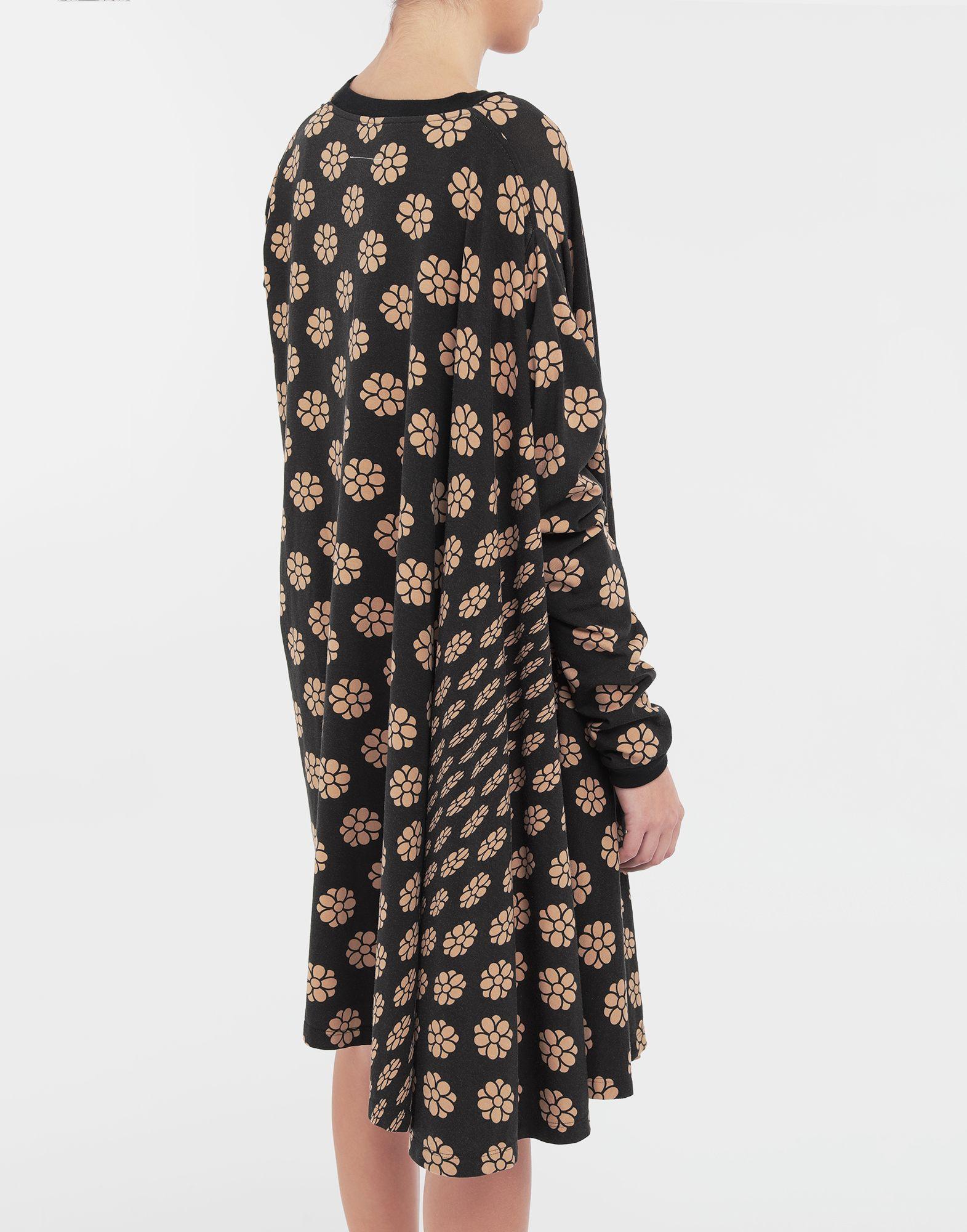 MM6 MAISON MARGIELA Polka dot flower-print shirt dress Short dress Woman b
